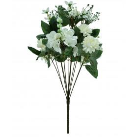 Ramo de crisantemo con hortensias