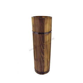 Juego de 3 jarrones de madera