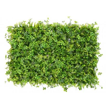 Plancha de helecho con hojas de trébol