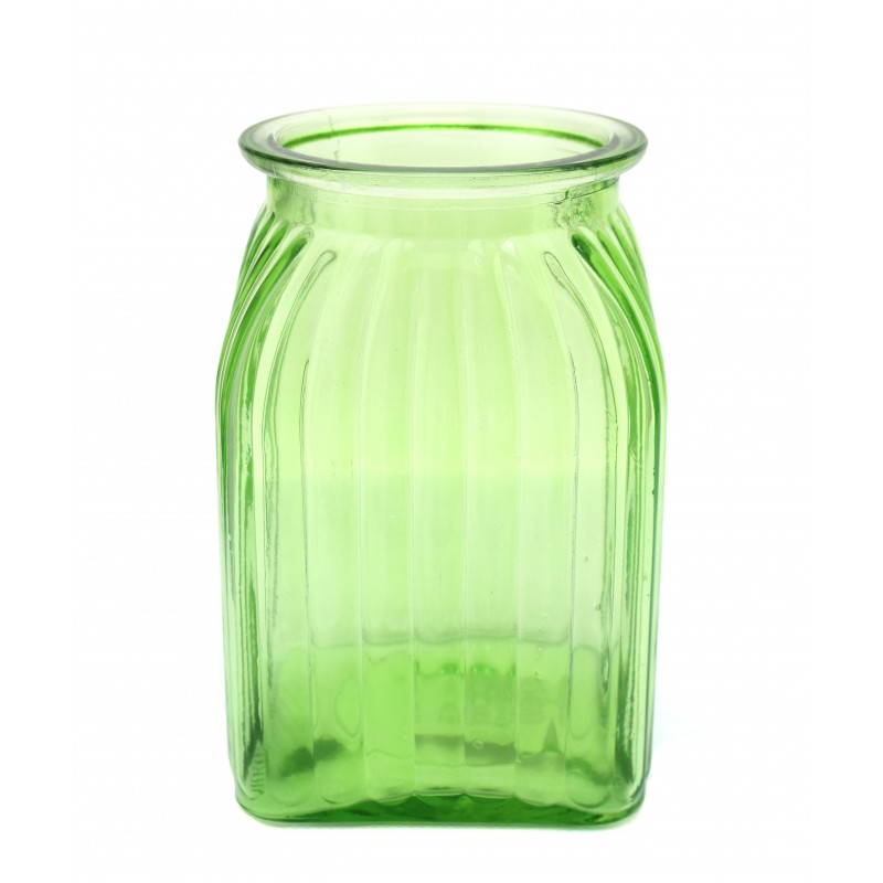 Jarr n cuadrado cristal domoflor for Jarron cristal