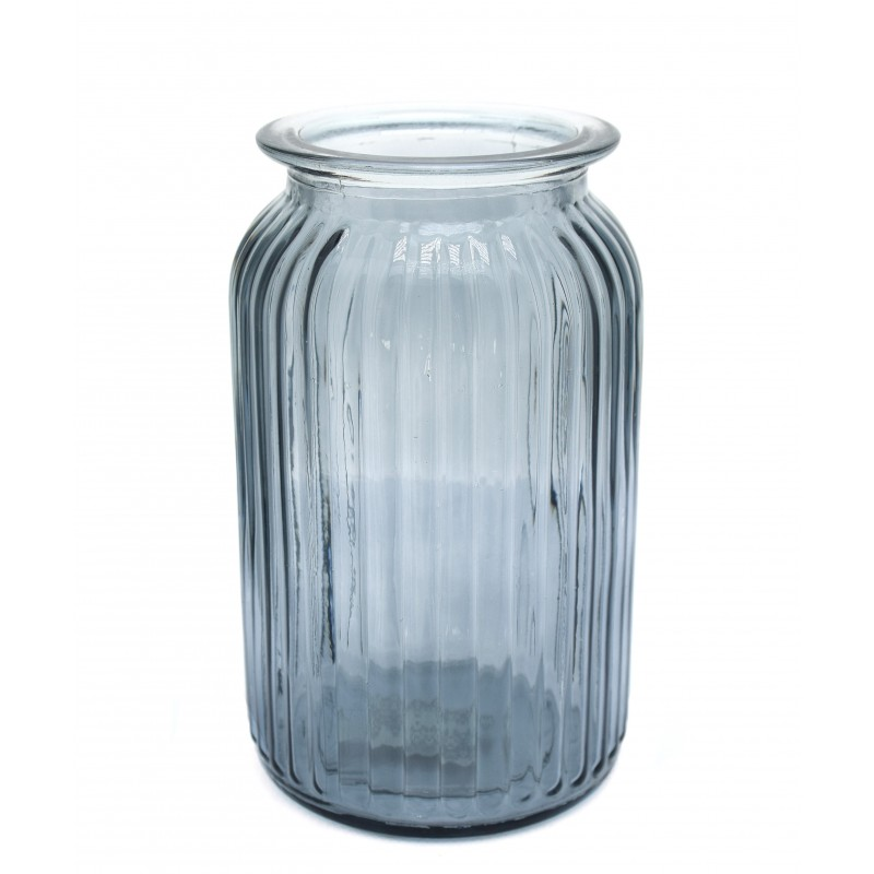 Jarr n cil ndrico cristal domoflor for Jarron cristal