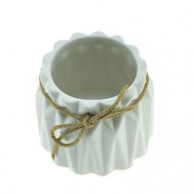 Tarro de cerámica con lazo de cuerda